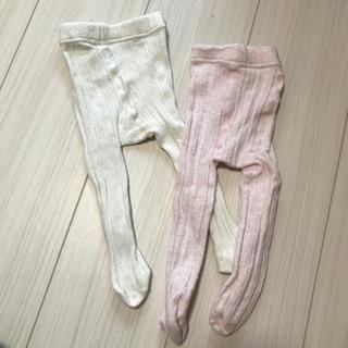 ネクスト(NEXT)のベビータイツ 白 ピンク(靴下/タイツ)
