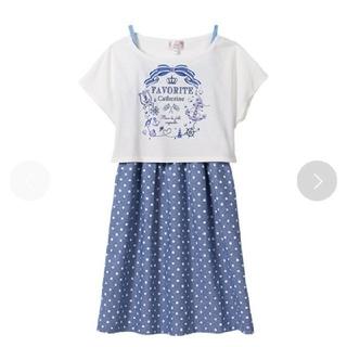 マザウェイズ(motherways)の120cm キャミワンピース Tシャツ セット(ワンピース)