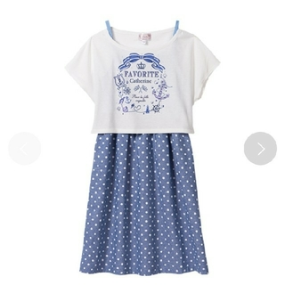 マザウェイズ(motherways)の120cm 140cm キャミワンピース Tシャツ セット(ワンピース)