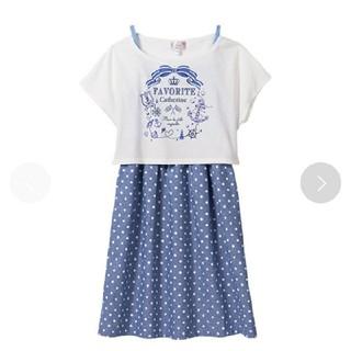 マザウェイズ(motherways)の150cm キャミワンピース Tシャツ セット(ワンピース)