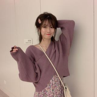 ザラ(ZARA)の新品未着用♡ショルダー風 ニットセーター♡韓国ファッション   (ニット/セーター)