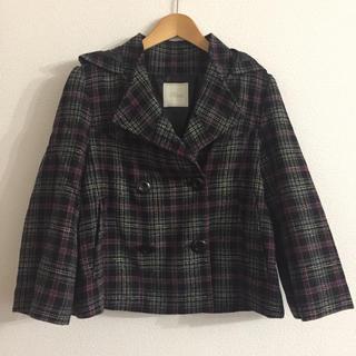 アクータ(Acuta)のaquagirl 購入 acuta チェックコート pコート ショートコート (ピーコート)