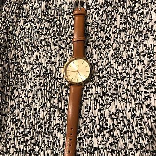 エテ(ete)のete 腕時計 ウォッチ ゴールド キャメル(腕時計)