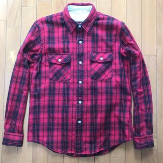 ザリアルマッコイズ(THE REAL McCOY'S)のワークシャツ タータンチェック ネルシャツ M 赤黒ヘビーフランネルネルシャツ(シャツ)