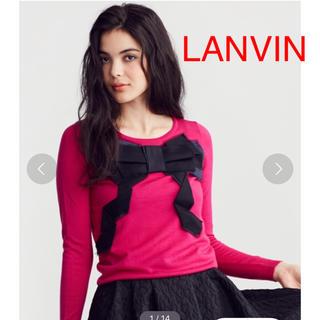 ランバンオンブルー(LANVIN en Bleu)の《タイムセール》LANVIN en bleuピンク リボンニット(ニット/セーター)