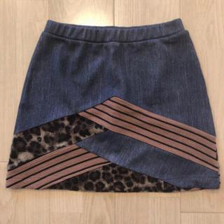 ローズバッド(ROSE BUD)のROSEBUD ローズバッド 異素材スカート(ミニスカート)