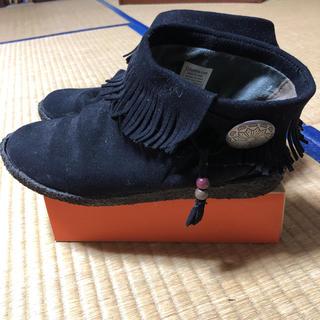 コロンビア(Columbia)のコロンビア ブーツ 24cm フォレストパーク ショートブーツ 美品 フリンジ(ブーツ)