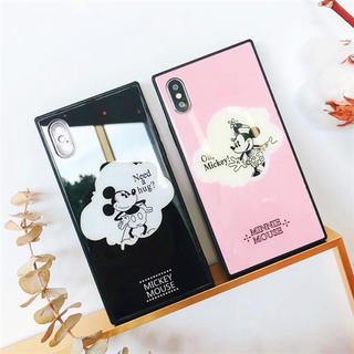 iPhoneケース ミッキー ミニー ドナルド スクエア型 (iPhoneケース)