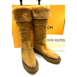 ルイヴィトン(LOUIS VUITTON)のLOUIS VUITTON☆ ムートンブーツ モノグラム ブラウン(ブーツ)