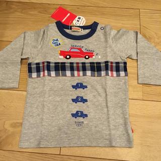 ミキハウス(mikihouse)の【新品未使用】ミキハウス グレー ロンT 長袖 Tシャツ 80(シャツ/カットソー)