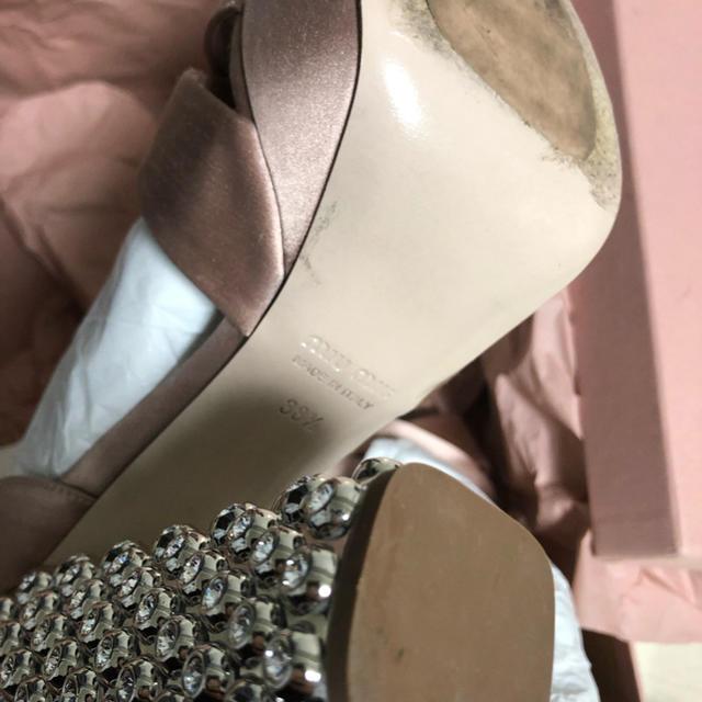 miumiu(ミュウミュウ)の美品 miumiu ビジュー サンダル ヒール 👠 レディースの靴/シューズ(ハイヒール/パンプス)の商品写真