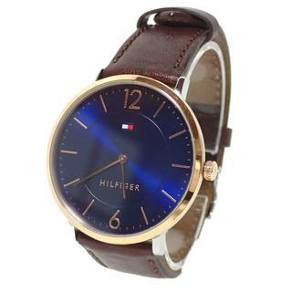 トミーヒルフィガー(TOMMY HILFIGER)のA919 トミーヒルフィガー メンズ クオーツ 1710354 ネイビー(腕時計(アナログ))