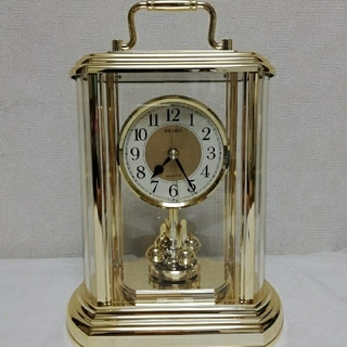 セイコー(SEIKO)の【新品】 SEIKO セイコー クオーツ 置時計 回転飾り付 (置時計)