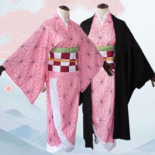COSPLAY 鬼滅の刃 竈門 禰豆子(かまど ねずこ)コスプレ衣装 (衣装一式)