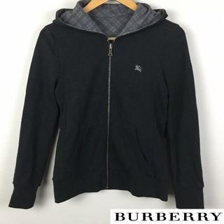 バーバリーブラックレーベル(BURBERRY BLACK LABEL)の美品 BURBERRY BLACK LABEL 長袖パーカー リバーシブル(パーカー)