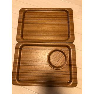 ウニコ(unico)のunico トレー×2.コースター×1(テーブル用品)