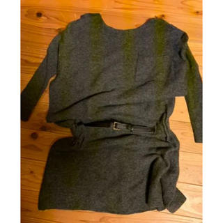 ランバンオンブルー(LANVIN en Bleu)のランバンオンブルー ベルト付きセーター(ニット/セーター)