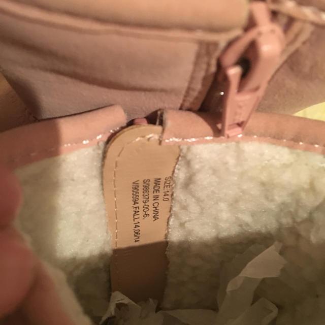 babyGAP(ベビーギャップ)のbaby Gap ☆ ピンクムートンブーツ サイズ 14 キッズ/ベビー/マタニティのベビー靴/シューズ(~14cm)(ブーツ)の商品写真