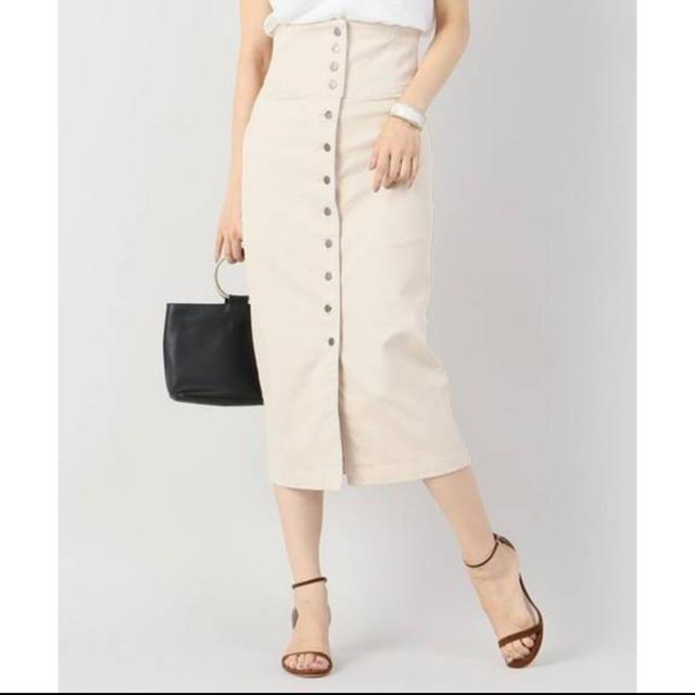 Plage(プラージュ)のplage CP ハイウエスト ミモレスカート レディースのスカート(ひざ丈スカート)の商品写真