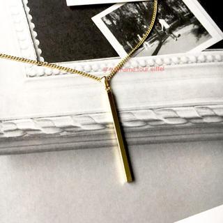 イエナ(IENA)の新品 ドゥーズィエムクラス ゴールドバーネックレス DEUXIEMECLASSE(ネックレス)