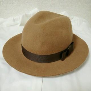 アングリッド(Ungrid)の極美品* Ungrid ウール フェルト 中折れハット 帽子 ファッション小物(ハット)