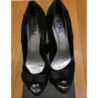 ビーシービージーマックスアズリア(BCBGMAXAZRIA)のBCBG ヒール ブラック 24cm  美品(ハイヒール/パンプス)