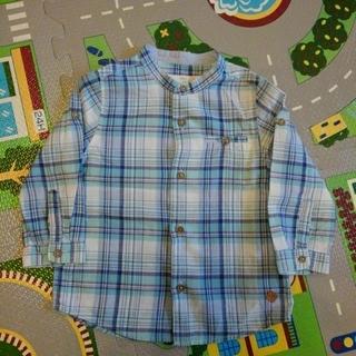 ザラキッズ(ZARA KIDS)のスタンドカラーチェックシャツ(ブラウス)
