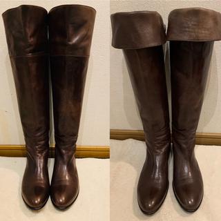 サヤ(SAYA)のSAYA ニーハイブーツ ツーウェイ 24.5cm 美品 お値下げ(ブーツ)