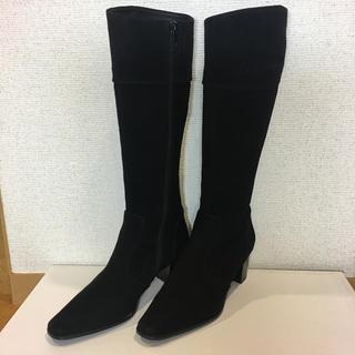 リズラフィーネ(Riz raffinee)のリズラフィーネ   黒いスエードのロングブーツ 23㎝    (ブーツ)