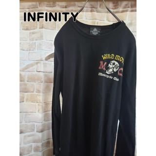 インフィニティ(Infinity)のINFINITY インフィニティ 女性xスカル柄 ロンT ストリート系(Tシャツ/カットソー(七分/長袖))