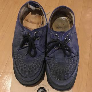 ジョージコックス(GEORGE COX)のジョージコックス スウェードラバーソール ブルー イングランド製 25cm〜(ブーツ)