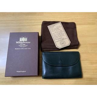 ホワイトハウスコックス(WHITEHOUSE COX)のホワイトハウスコックス ヴィンテージブライドルレザー 高級 三折り財布 オリーブ(折り財布)