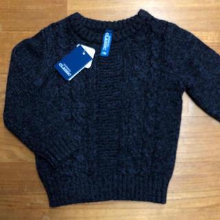 ニシマツヤ(西松屋)の西松屋 ネイビー 模様編みセーター 90 新品(ニット)