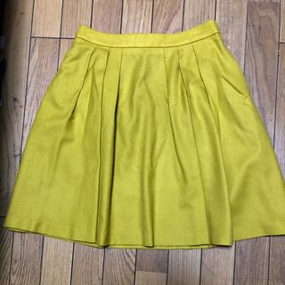マッキントッシュフィロソフィー(MACKINTOSH PHILOSOPHY)のウール素材イエローのスカート(ひざ丈スカート)