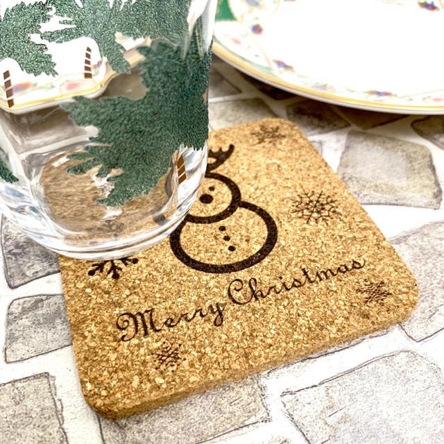 【送料無料】コルク製コースター (雪だるまVer.) クリスマス イベント 置物 インテリア/住まい/日用品のインテリア/住まい/日用品 その他(その他)の商品写真