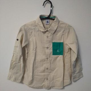 プチバトー(PETIT BATEAU)の【新品未使用】プチバトー 男の子 5歳/108センチ シャツ(ブラウス)