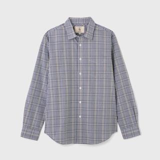 エーグル(AIGLE)のDFTグレンチェックシャツ長袖 ダークネイビー(シャツ)