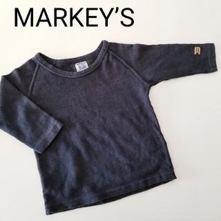 マーキーズ(MARKEY'S)のマーキーズ★ワッフルロンT 80★ブラック(シャツ/カットソー)