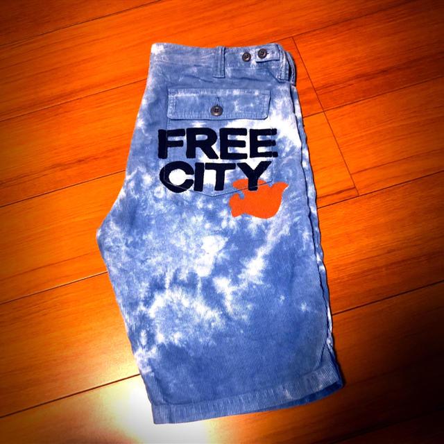 HOLLYWOOD RANCH MARKET(ハリウッドランチマーケット)のFREE CITY  BLEACH HALF PANTS フリーシティー メンズのパンツ(ショートパンツ)の商品写真