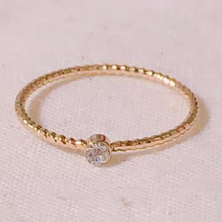 指輪 リング ゴールド シルバー スワロフスキー 13号(リング(指輪))
