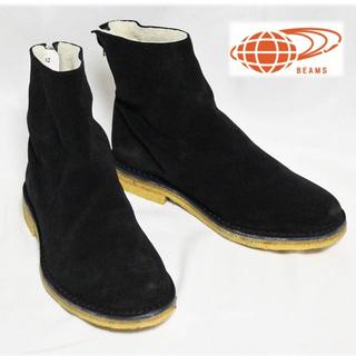ビームス(BEAMS)の《MATA×BEAMS》新品 バックジップ ボア ブーツ 黒 26cm(ブーツ)