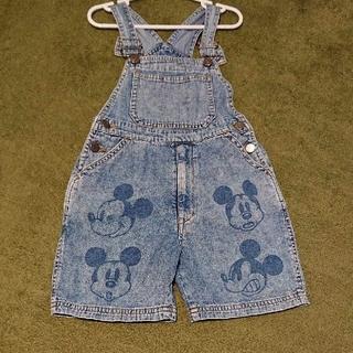 ディズニー(Disney)のミッキー オーバーオール(パンツ/スパッツ)