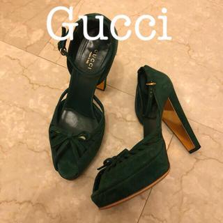 グッチ(Gucci)のGucci グッチ サンダル  緑 グリーン(サンダル)
