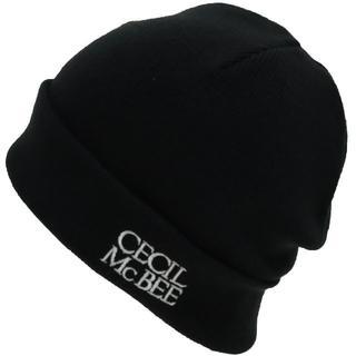 セシルマクビー(CECIL McBEE)のCECIL McBEE セシルマクビー ニット帽 ロゴ アクリル ★ブラック新品(ニット帽/ビーニー)
