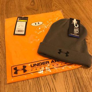アンダーアーマー(UNDER ARMOUR)のhideo様専用 アンダーアンマー ニットキャップ Tシャツ 2点セット 新品(ニット帽/ビーニー)