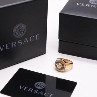 ヴェルサーチ(VERSACE)のVERSACE  ヴェルサーチ リング コンビ メデゥーサ 21号 箱付き 中古(リング(指輪))