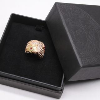 ジャンニヴェルサーチ(Gianni Versace)のVERSACE ヴェルサーチ リング 約10号 ライトストーン スター ゴールド(リング(指輪))
