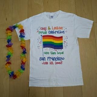 ヘインズ(Hanes)のLGBTゲイ&レズビアン セレブレーション Tシャツ 2003 サンフランシスコ(Tシャツ/カットソー(半袖/袖なし))
