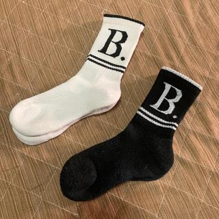 アニエスベー(agnes b.)のused アニエスベー 靴下 白と黒 16から19cm おまけ付き(靴下/タイツ)