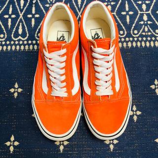 ヴァンズ(VANS)のvans oldskool us6.5 オレンジ(スニーカー)